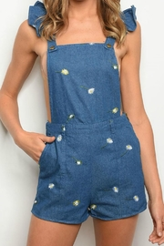 Pretty Little Things Embroidered Floral Overalls - Product Mini Image