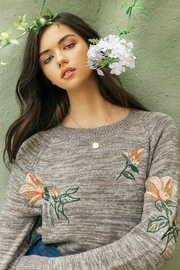 Thml Embroidered Floral Sweater - Product Mini Image