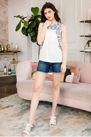 THML Clothing Embroidered Floral Tank - Product Mini Image