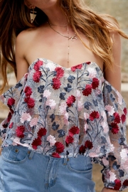 Selfie Leslie Embroidered Floral Top - Product Mini Image