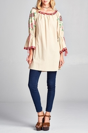Velzera Embroidered Floral Tunic - Product Mini Image