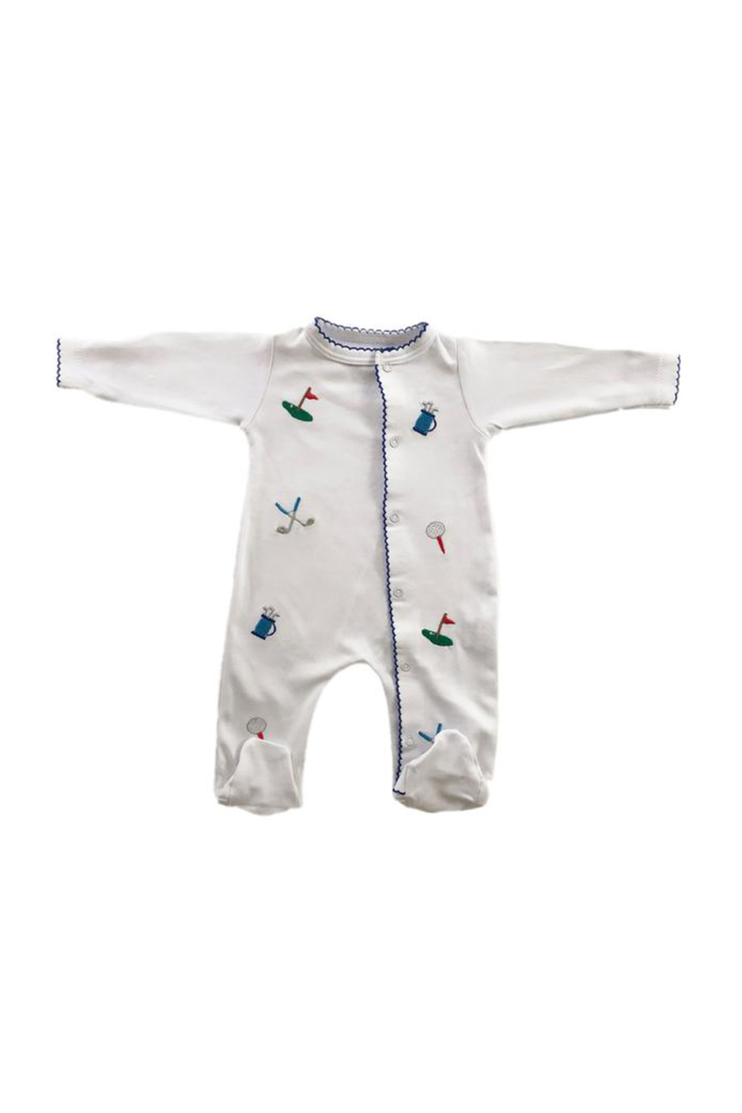 SAMMY & NAT Embroidered Footie Romper - Front Cropped Image