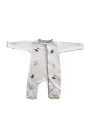 SAMMY & NAT Embroidered Footie Romper - Front cropped
