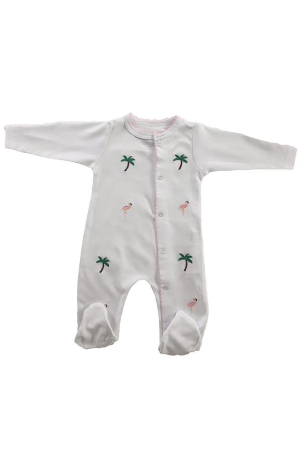 SAMMY & NAT Embroidered Footie Romper - Main Image