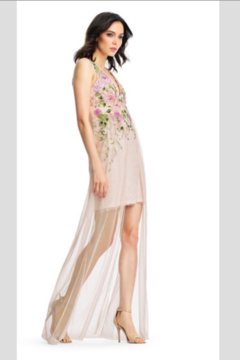 Aidan Mattox Embroidered Garden Dress in Blush - Alternate List Image