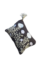chloe & Lex  Embroidered Garden Medium Pouch - Product Mini Image