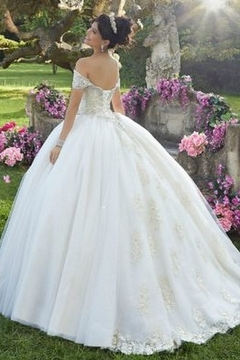 Morilee Embroidered Glitter Organza Gown - Alternate List Image