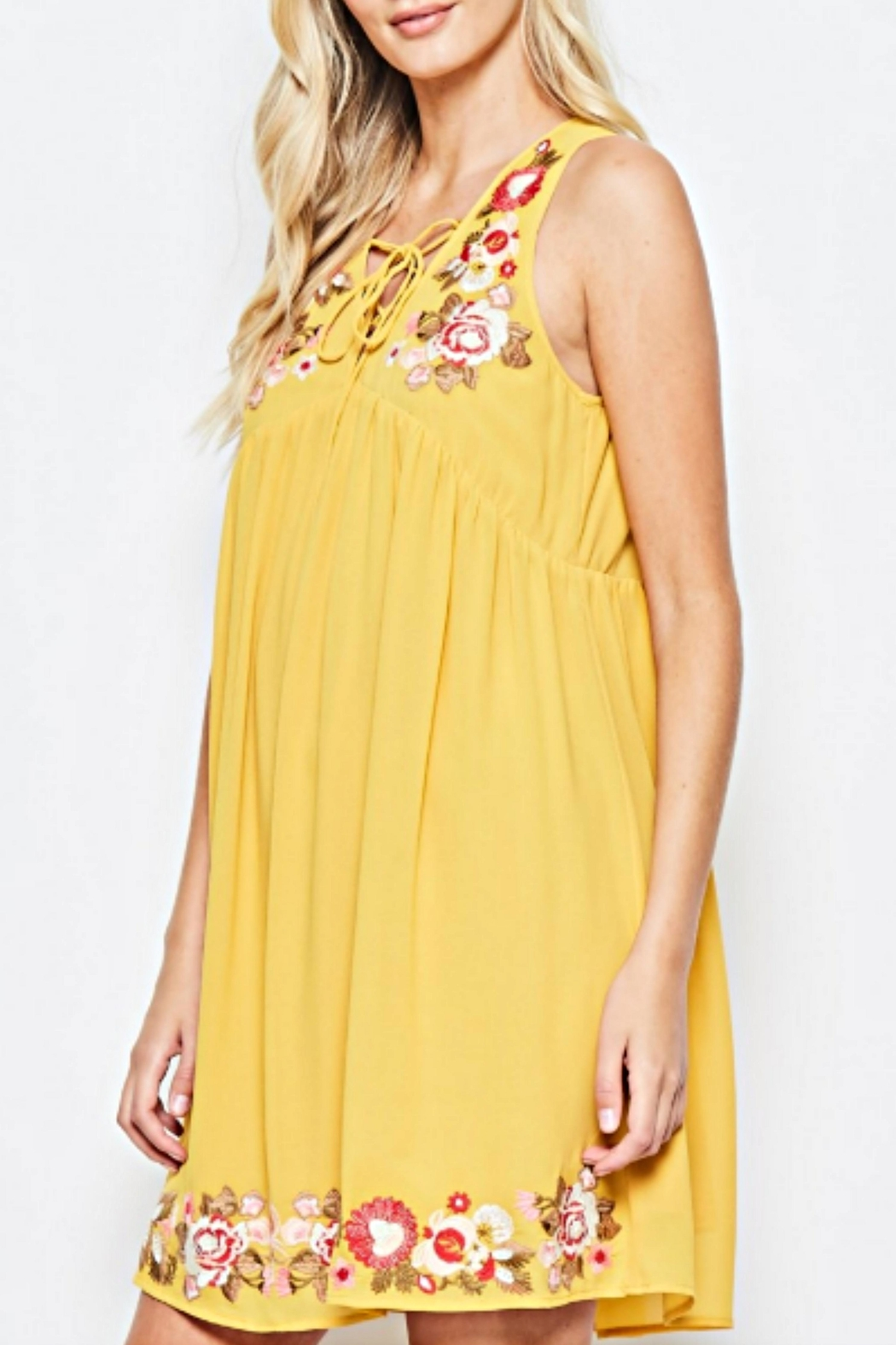 Andree by Unit Embroidered Golden Sundress - Main Image