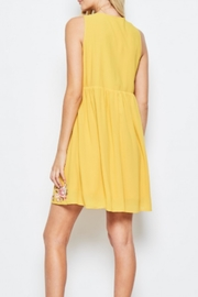 Andree by Unit Embroidered Golden Sundress - Side cropped