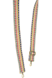 Joy Susan Embroidered Guitar Strap - Front cropped
