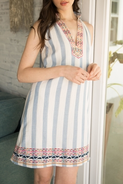 THML Clothing Embroidered Halter Dress - Product List Image