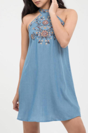 Blu Pepper Embroidered Halter Dress - Product Mini Image