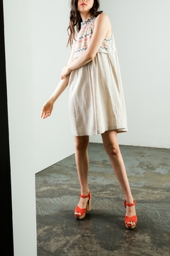 THML Clothing Embroidered Halter Dress - Alternate List Image
