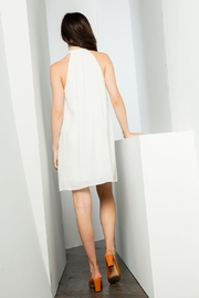 THML Clothing Embroidered Halter Dress - Back cropped
