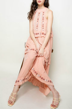 Thml Embroidered halter maxi dress - Product List Image