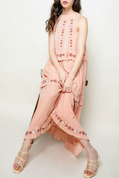 Shoptiques Product: Embroidered halter maxi dress