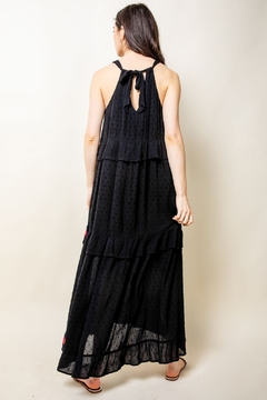 Thml Embroidered Halter Maxi Dress - Alternate List Image