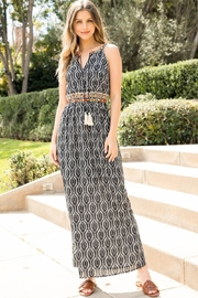 THML Clothing EMBROIDERED HALTER PRINT MAXI - Front cropped