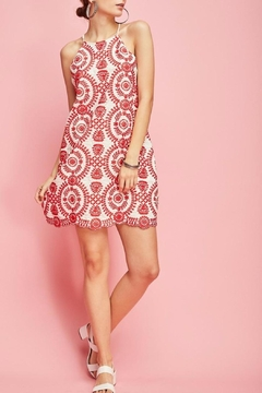 Shoptiques Product: Embroidered Halter-Shift Dress