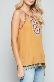 Andree by Unit Embroidered Halter Tank - Front full body