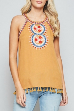 Andree by Unit Embroidered Halter Tank - Product List Image
