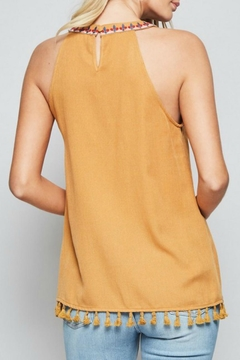 Andree by Unit Embroidered Halter Tank - Alternate List Image