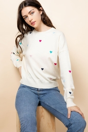 Thml Embroidered Heart Sweater - Product Mini Image