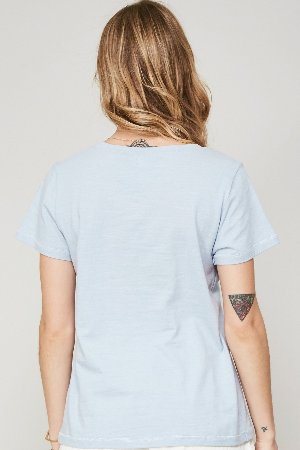 Promesa  Embroidered Heart Tee - Front Full Image