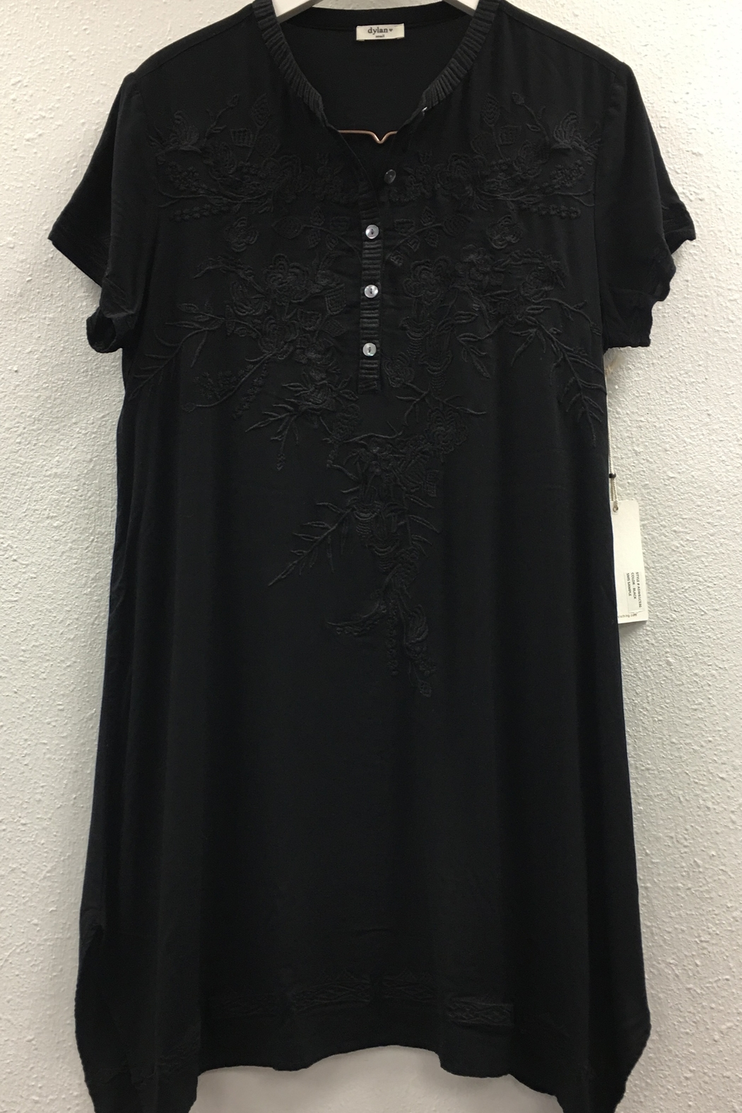 Dylan by True Grit Embroidered Henley Dress - Main Image