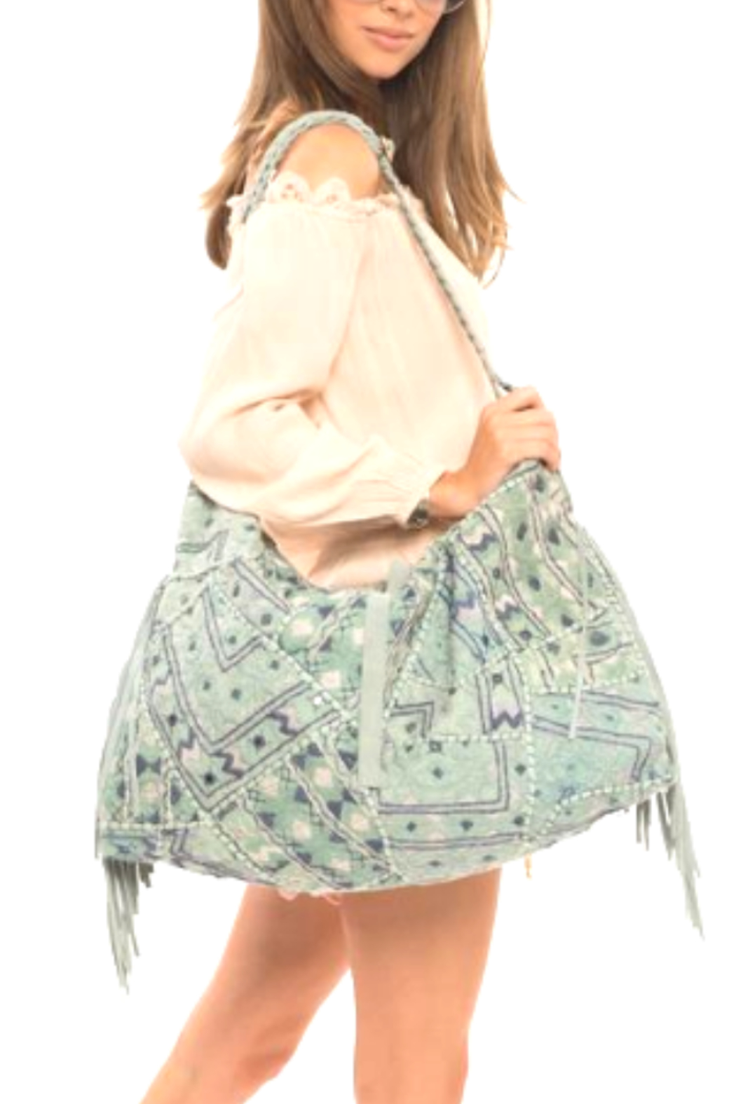 Muche et Muchette Embroidered Hobo Bag - Main Image
