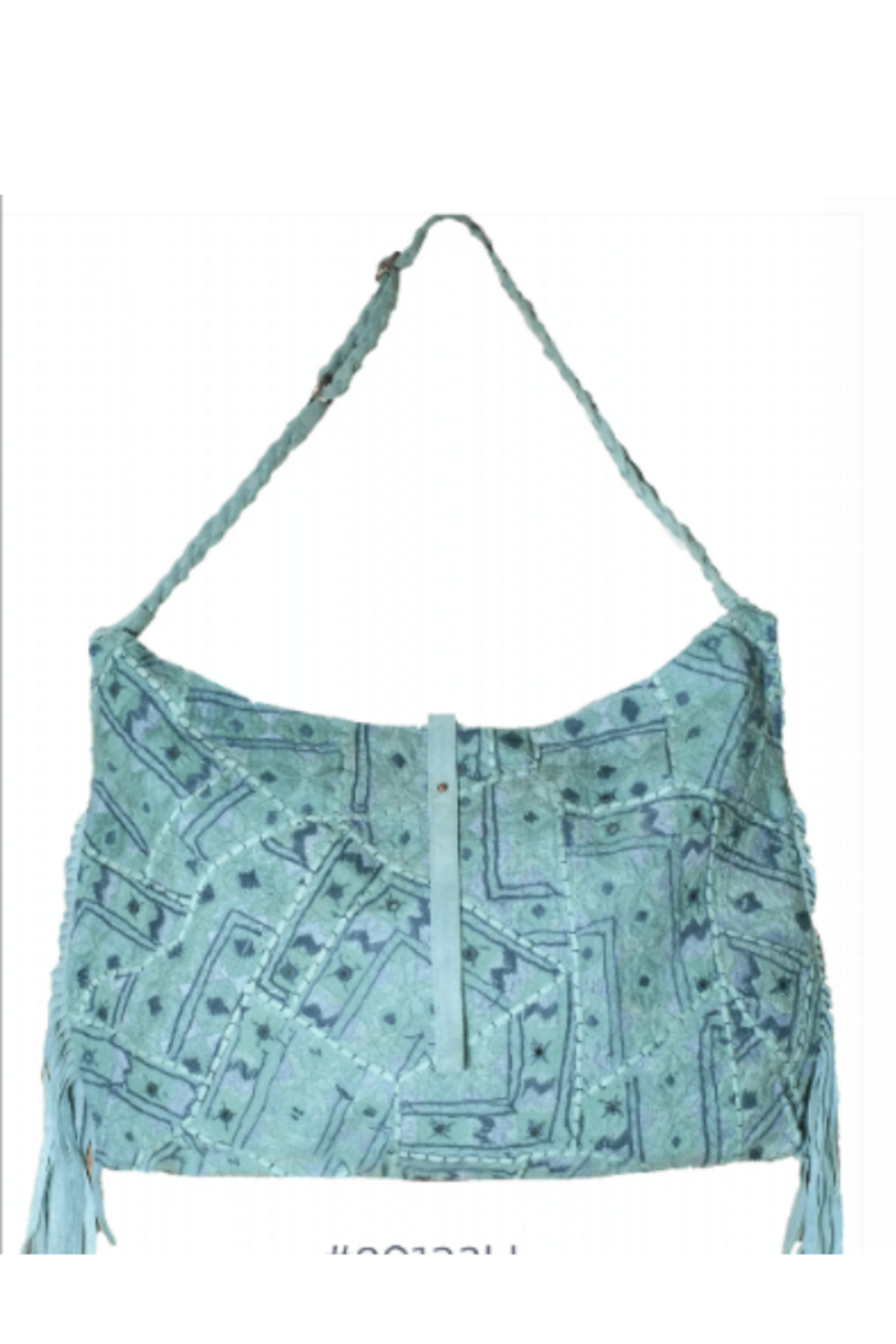 Muche et Muchette Embroidered Hobo Bag - Front Full Image