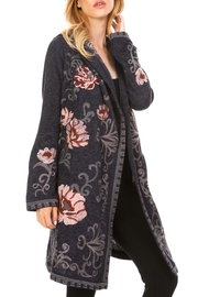 Adore Embroidered Hoodie Cardigan - Product Mini Image