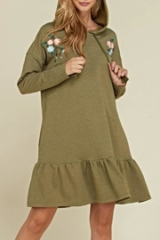 annabelle Embroidered Hoodie Dress - Product Mini Image