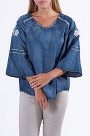 Mur Embroidered Jean Top - Product Mini Image