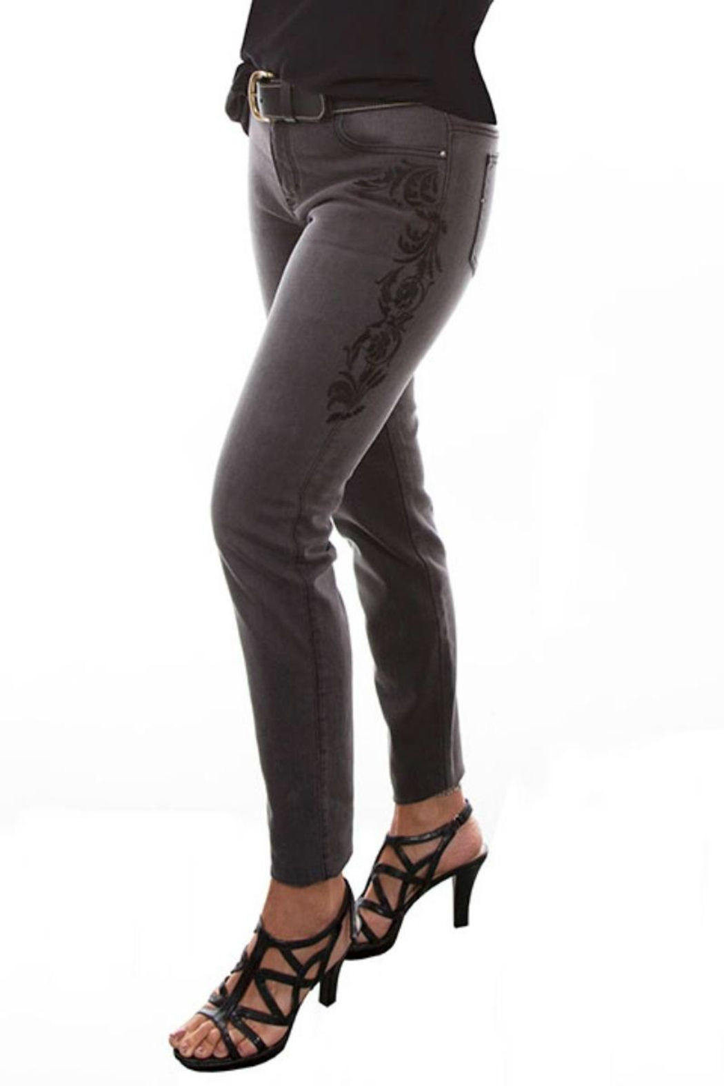 Scully Embroidered Jeans - Side Cropped Image