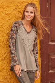 Gretty Zuegar Embroidered Jersey Top - Product Mini Image