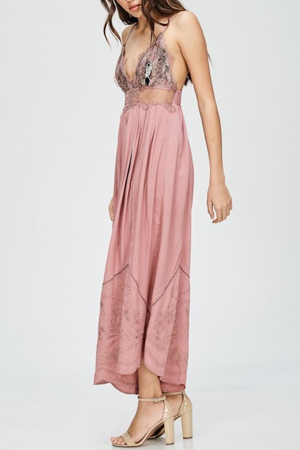 the clothing company Embroidered Jumpsuit - Side Cropped Image