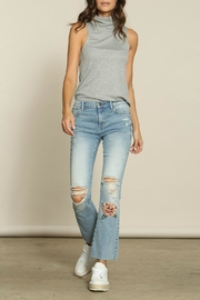 Driftwood Embroidered Kick-Flare Jeans - Product Mini Image