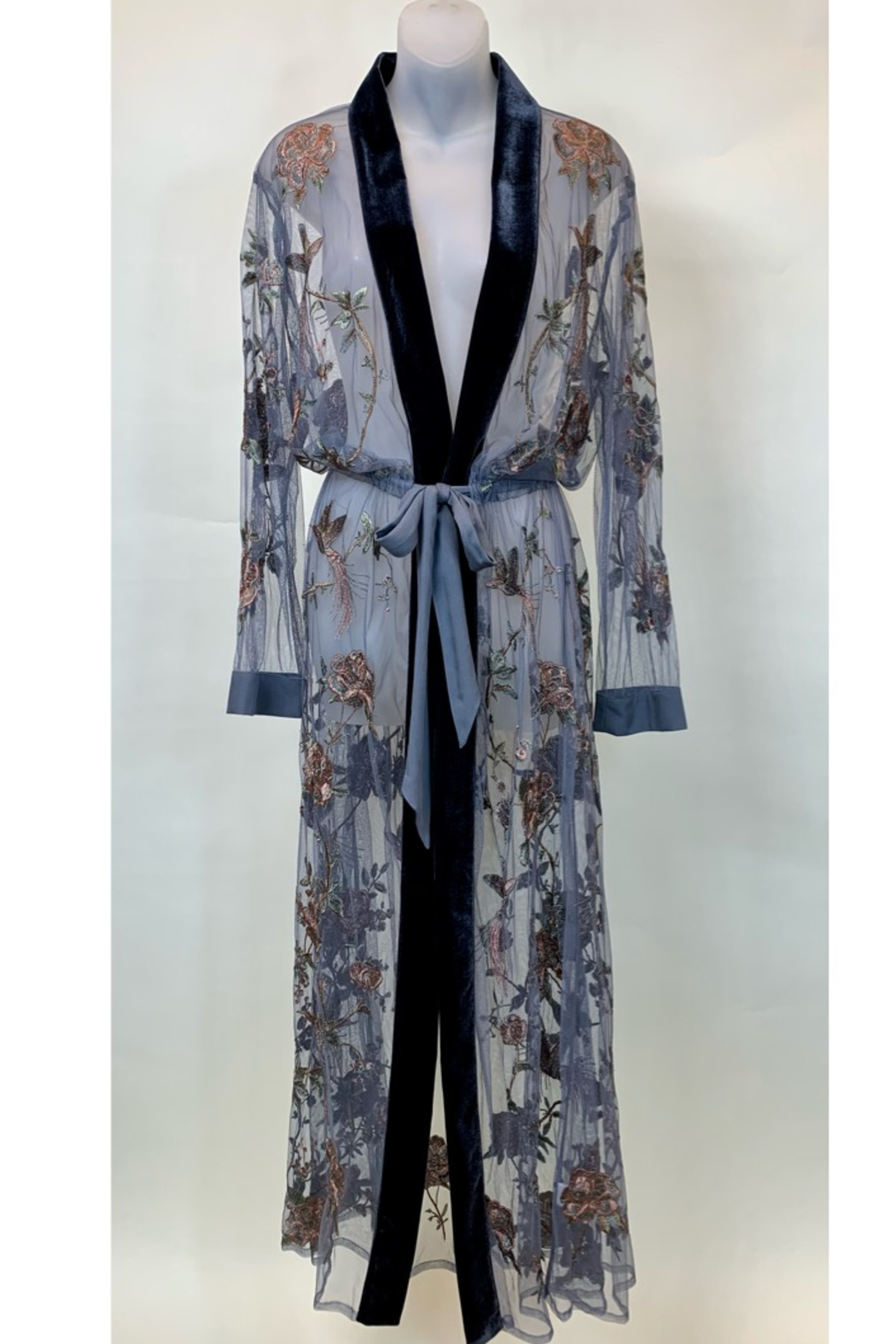 Aratta  EMBROIDERED KIMONO / DUSTER - Back Cropped Image