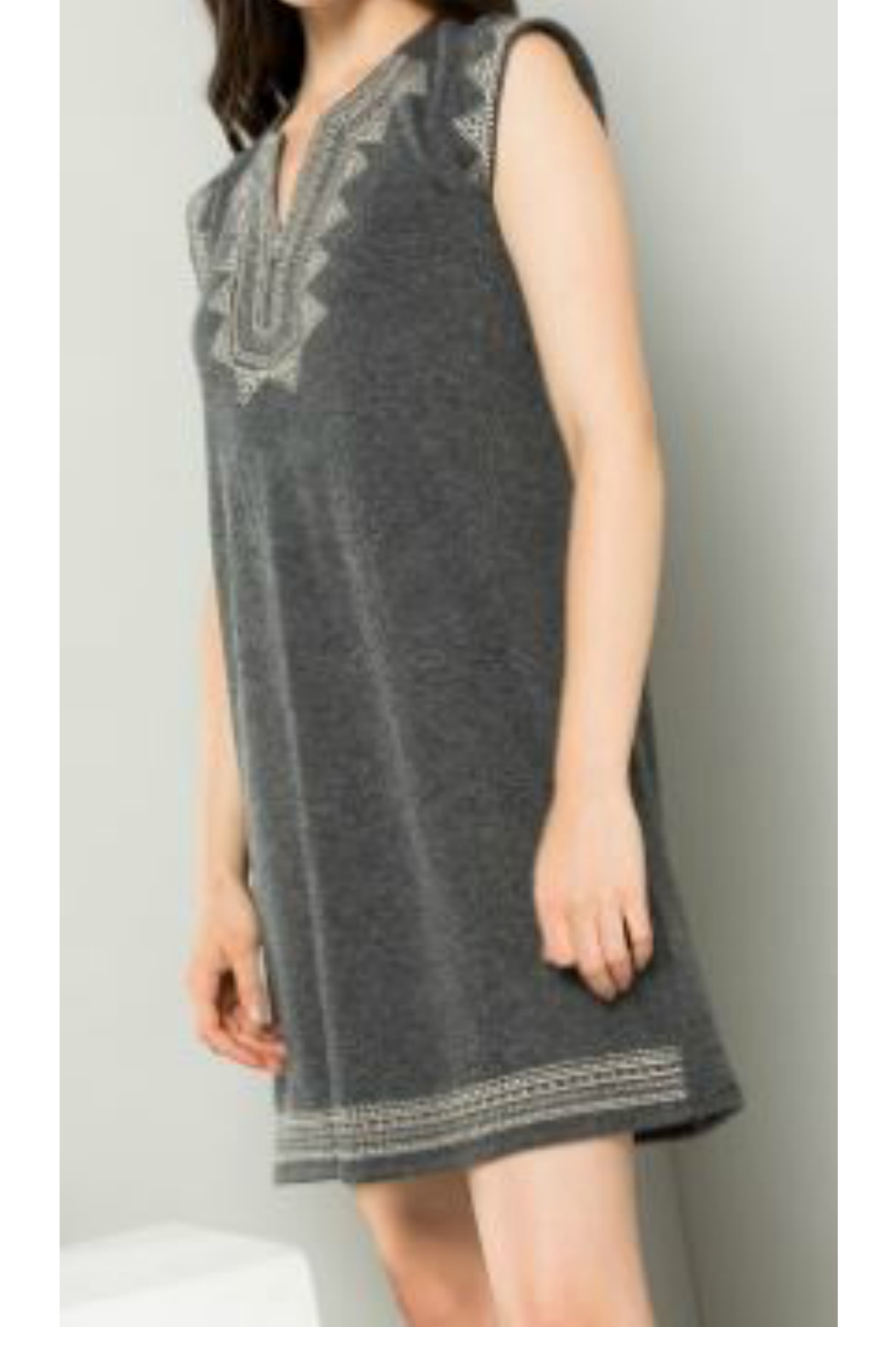 THML  Embroidered knit dress - Main Image