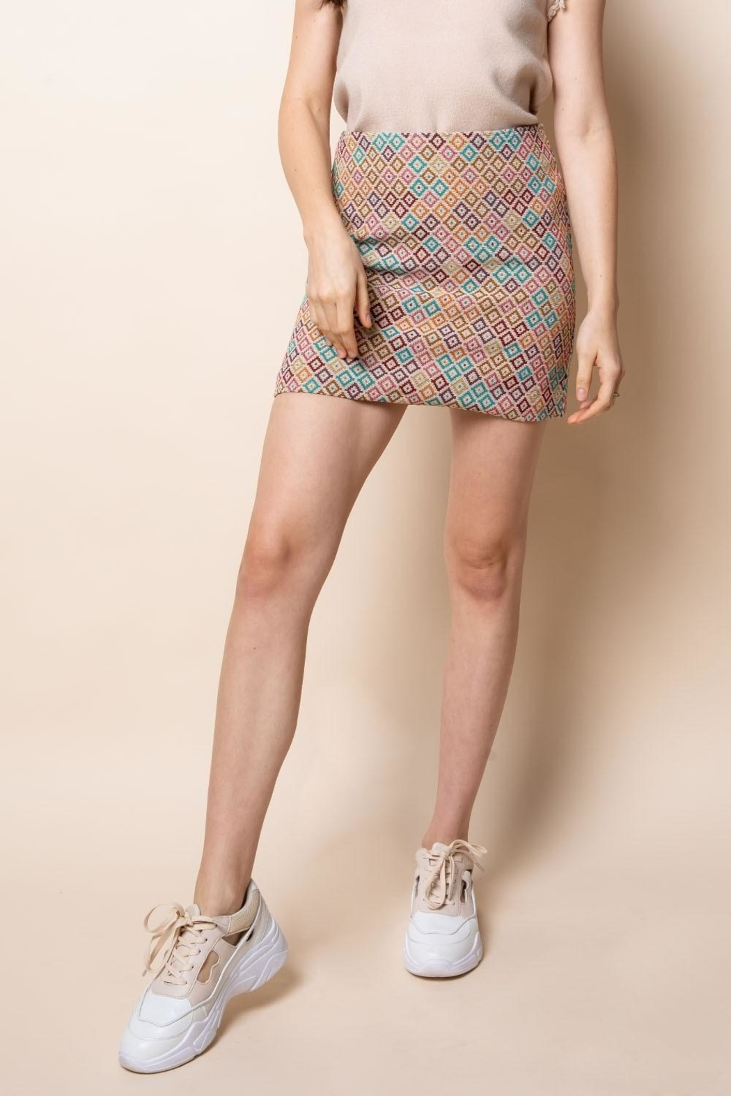 Thml Embroidered Knit Skirt - Main Image