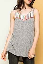 THML Clothing Embroidered Knit Top - Product Mini Image