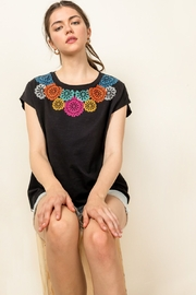 Thml Embroidered Knit Top - Side cropped