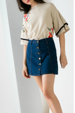 Shoptiques Product: Embroidered knit top