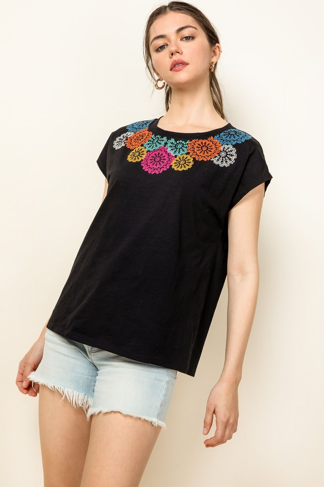 Thml Embroidered Knit Top - Main Image