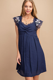 FSL Apparel Embroidered Lace Babydoll Dress - Product Mini Image