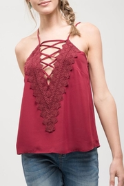 Blu Pepper Embroidered Lace Cami - Product Mini Image