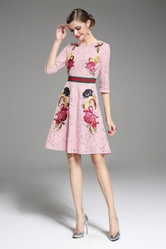 Mia Mod Embroidered Lace Dress - Product List Image