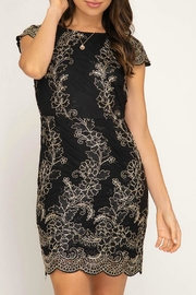 She + Sky Embroidered Lace Dress - Product Mini Image