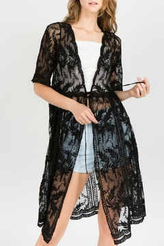 Shoptiques Product: Embroidered Lace Duster